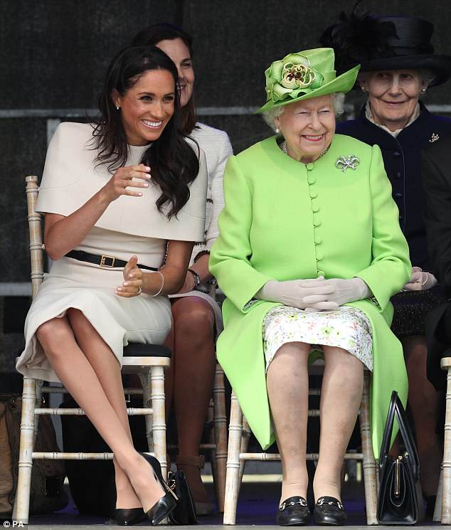 The close bond between the Queen and Meghan became apparent when the pair sat down at a ceremony to open the new Mersey Gateway Bridge