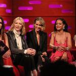Scarlet Beauty:Rihanna glows at the Graham Norton Show