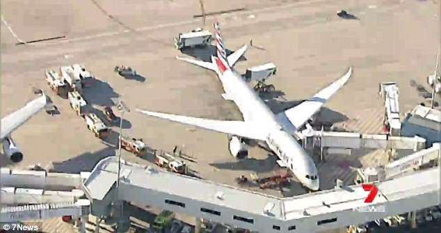 A hazardous material has reportedly been found on board an American Airlines plane at Sydney airport
