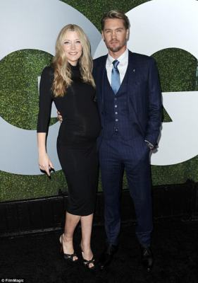 Ouch:Sarah Roemer took to Instagram on Thursday to share a meme directed at the 35-year-old ex of her husband Chad Michael Murray, as they are pictured together in December 2016