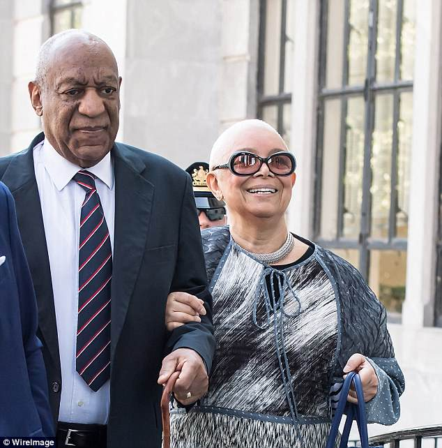 Amid the legal team shake-up, Cosby is also hitting back at rumors that he is splitting with Camille Cosby - his wife of 54 years (pictured together in June 2017)