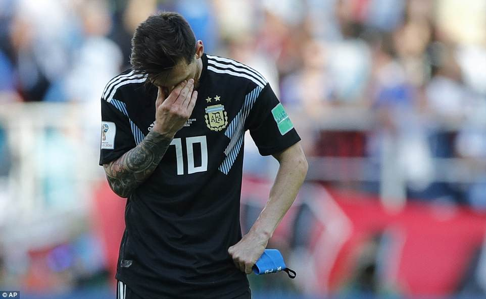 Messi tried to make amends for that mistake and drove a last-gasp free-kick into the Iceland wall in disappointing fashion