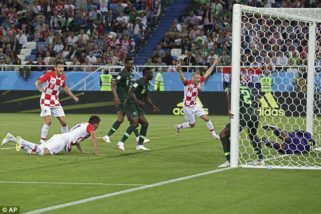 An own goal from Oghenekaro Etebo broke the deadlock just after the half-hour mark