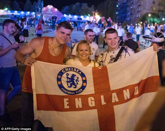 Only 2,500 fans have travelled to the Russian city of Volgograd for tonight's Group G clash