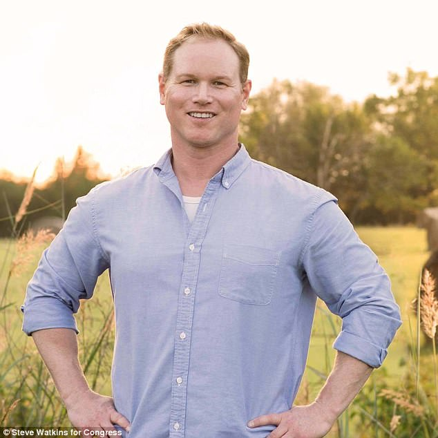Steve Watkins (Pictured), the Republican candidate for Kansas' 2nd Congressional District, slammed the judge's decision saying called it 'the latest example of unelected judges replacing their wisdom for that of voters'