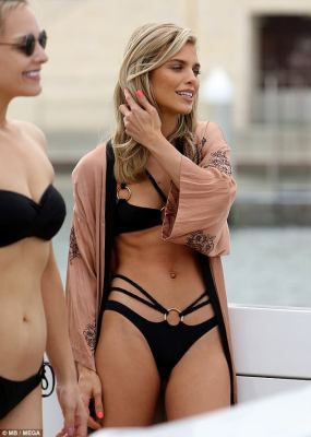 Beauty: The actress stunned in a strappy bikini as she prepared to be a muse for a painter