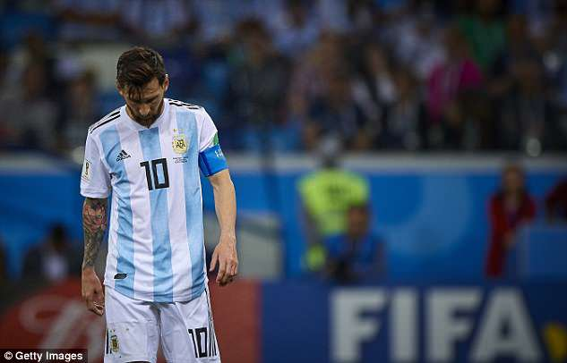 Lionel Messi was unable to help Argentina as they fell to the defeat in Nizhny Novgorod