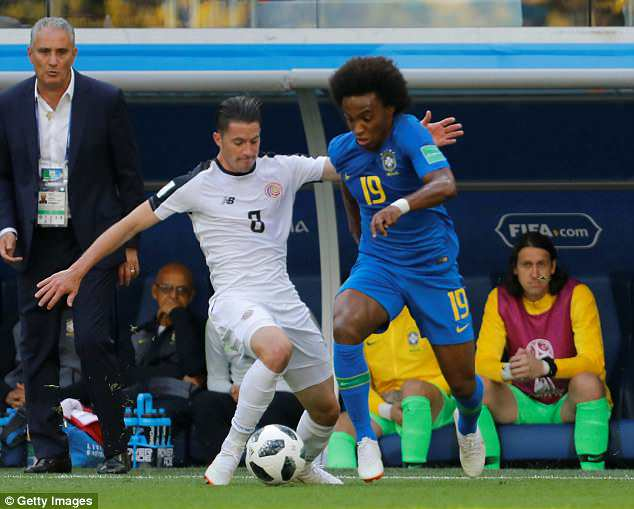 Oviedo pointed out that other members of the Brazil squad, such as Willian, don't dive