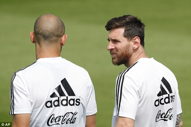 Messi (pictured with Javier Mascherano) has been far from his best in the opening two games