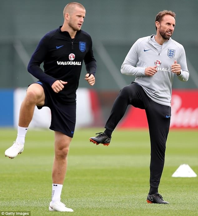 Gareth Southgate got stuck straight into the warm up with his players on Monday