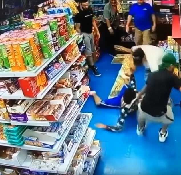 A new video has surfaced showing a moment when 15-year-old Lesandro Guzman-Feliz was dragged out of a Bronx bodega last week before being beaten and stabbed by a group of men linked to a Dominican gang