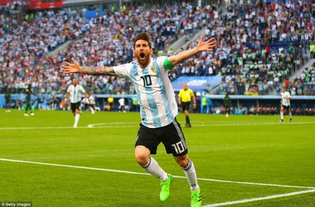 Lionel Messi broke the deadlock with a brilliant finish after Ever Banega had found him with a sublime through ball