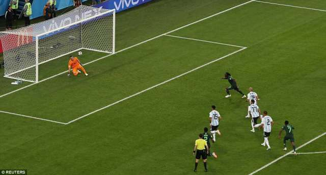 The Chelsea man wrong-footed the goalkeeper to roll the ball in and punish Mascherano for his overly physical approach