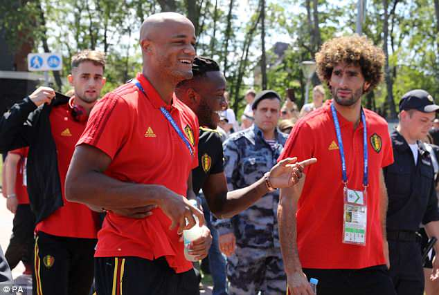 Vincent Kompany and Co were in a very relaxed mood as they enjoyed the warm weather
