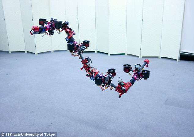 Roboticists in Tokyo developed a robot called DRAGON that can fly indoors. It can autonomously transform mid-air