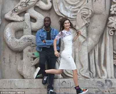 Bella Hadid's cute Style for photoshoot in Paris