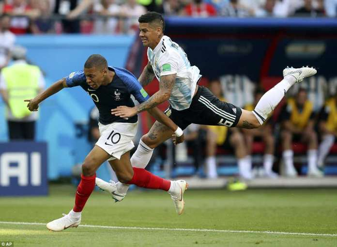 Mbappe was brought down inside the box following a rash piece of defending from Manchester United's Marcos Rojo