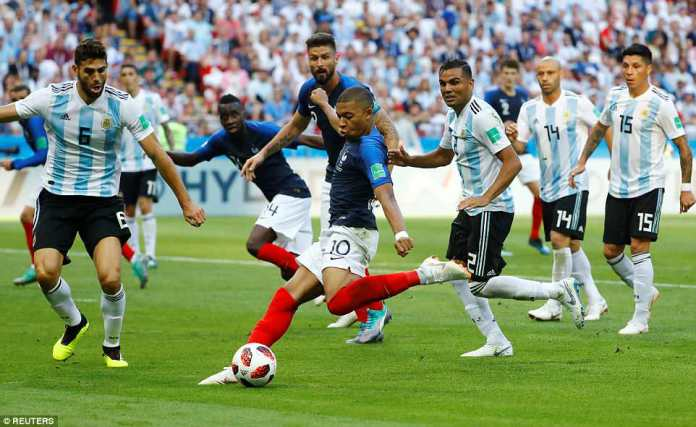 Mbappe's first goal was a moment of magic as he managed to turn inside the box and fire a low shot into the back of the net