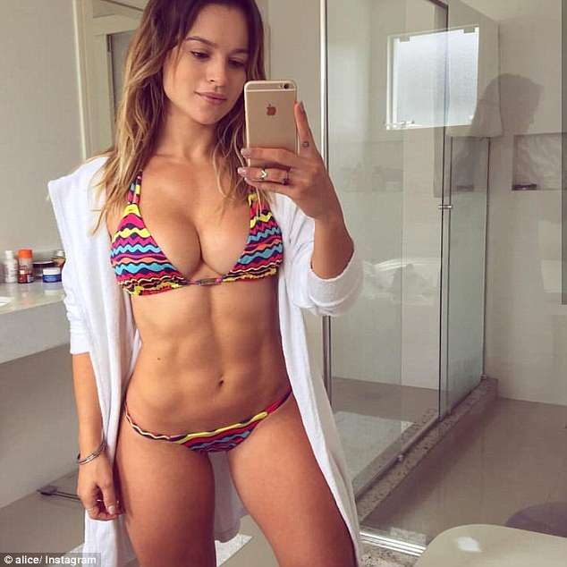 The premise of the website was to share interviews and features with some of the 'jaw dropping' physiques in the fitness scene (pictured isAlice Matos)