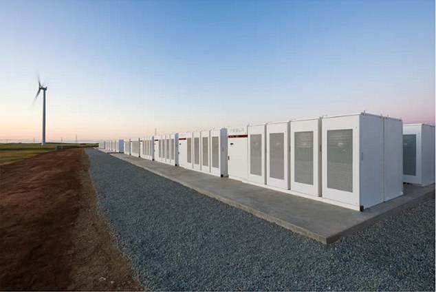 The world's largest lithium-ion battery built by Tesla tycoon Elon Musk in South Australia. Mr Musk is thought to be behind the plans for the Graveney battery