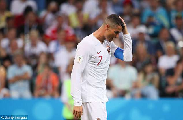 Ronaldo endured a frustrating evening at the Fisht Olympic Stadium on Saturday
