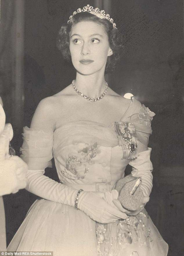 The Queen's younger sister (pictured on her 21st birthday) was known to be a big fan of Christian Dior