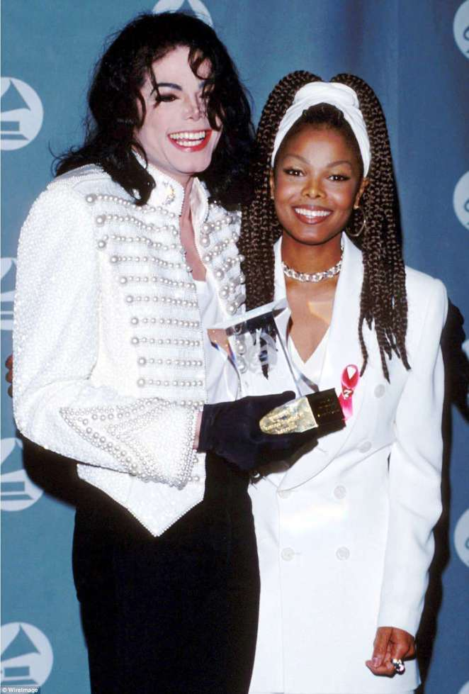 Joe Jackson was the father of both Michael (left) and Janet Jackson (right)