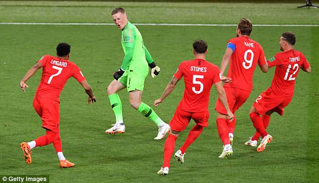 Jordan Pickford was the hero in the nerve-racking penalty shootout in Moscow