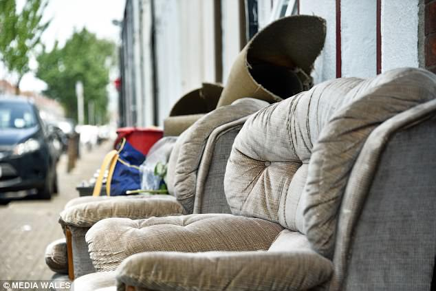 council sofa collection cardiff bed mattress replacement melbourne students leave trail of rubbish as they break for summer maintenance teams and members university are determined to keep up with the