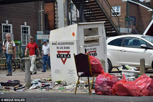 council sofa collection cardiff narrow depth tables students leave trail of rubbish as they break for summer have left a disgusting in including abandoned cars and rotting food