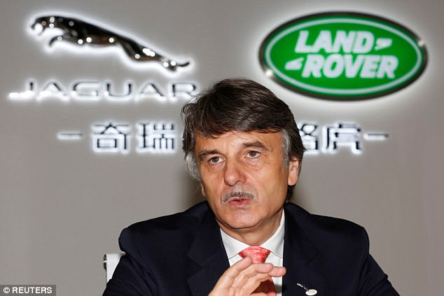 Dr Ralf Speth, chief executive of Jaguar Land Rover, pictured, has warned the government, Brexit could end up costing the firm £1.2bn a year impacting on jobs and investment