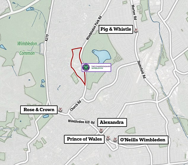 Wimbledon organisers say the England game will not be broadcast on Henman Hill but there are venues nearby where fans could watch the action