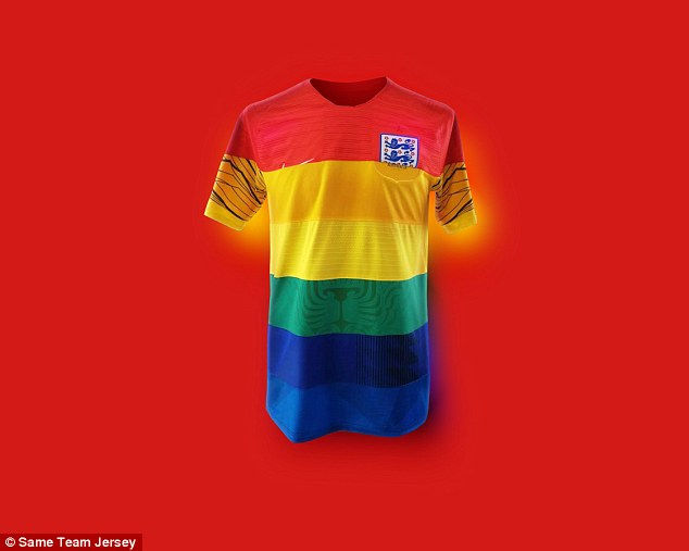 To celebrate Pride across the world, a number of unique World Cup shirts have been designed