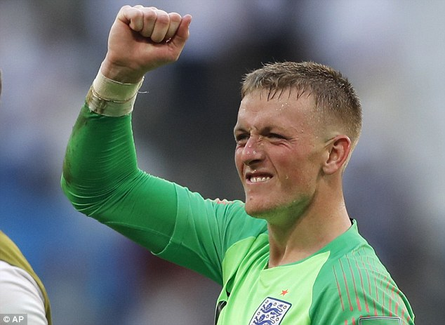 Pickford kept his first clean sheet of the tournament in England's 2-0 victory over Sweden