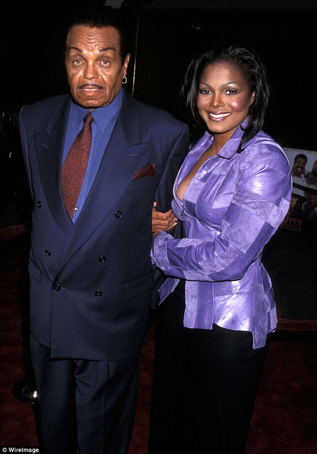 Mastermind: Joe Jackson helped launch The Jackson Five and the solo careers of Janet and Michael; Janet pictured with dad Joe Jackson in July 2000