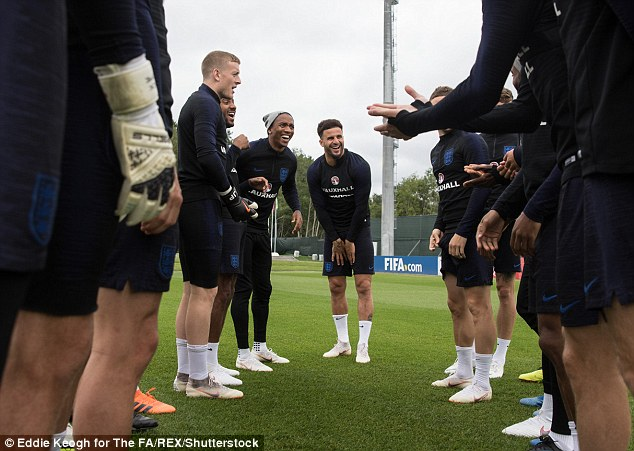 Walker actually took the punishment for team-mate Ashley Young at the end of the session