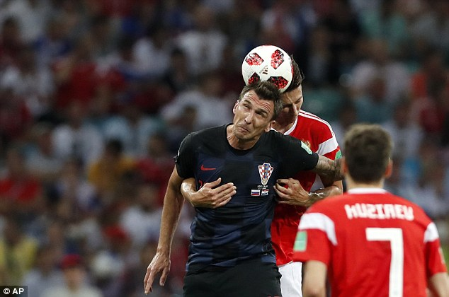 Croatia striker Mario Mandzukic provides them with a threat in the air going forward