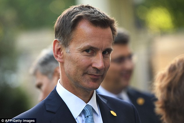 New foreign secretary Jeremy Hunt (above) will not attend any World Cup matches in Russia