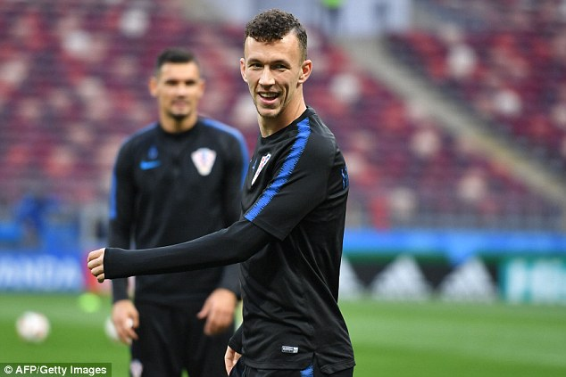 Ivan Perisic is an intelligent player whooften drifts into the centre forward position for Croatia