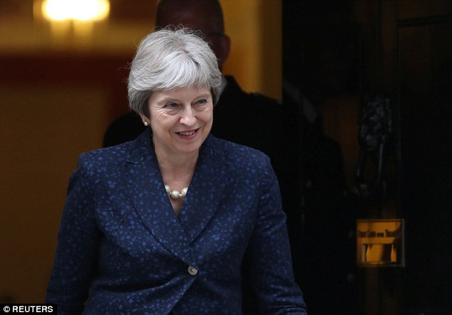 Henry Smith said Theresa May (pictured outside No10 on Monday) would jinx the match because she does not support Brexit coming home