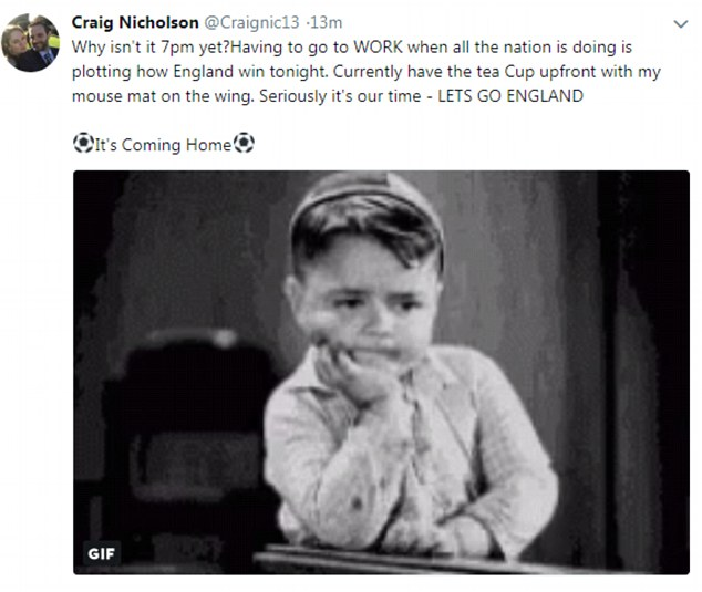 Anxious England fans are posting hilarious memes moaning about being stuck at work as they count down the minutes to the historic World Cup clash with Croatia