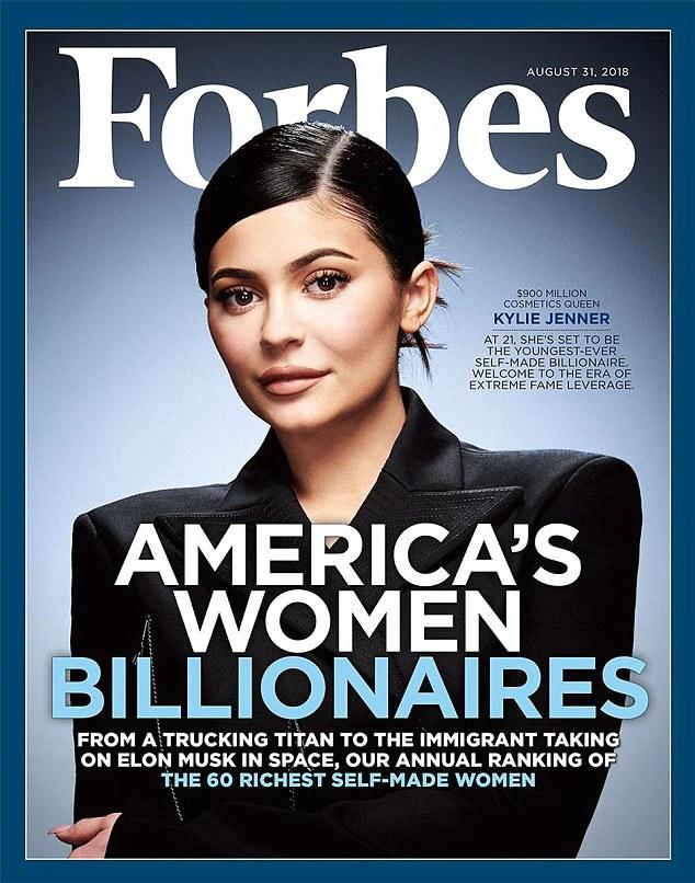 """Ist sie wirklich """"selbst gemacht""""? Viele Leute machen sich Sorgen, dass Forbes Kylie Jenner auf ihrem neuesten Cover feiert"""