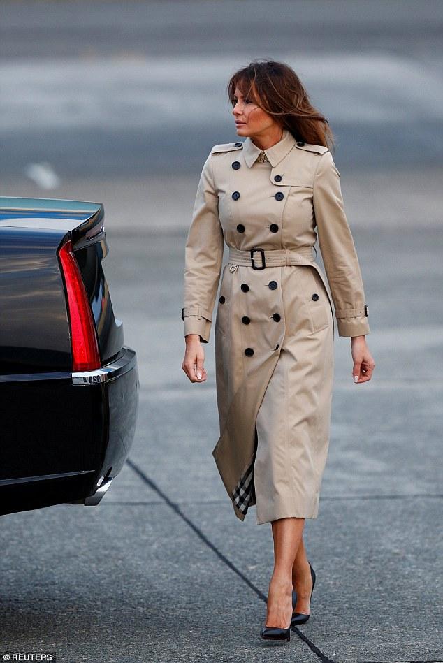 Melania Trump arriving in Europe Tuesday night