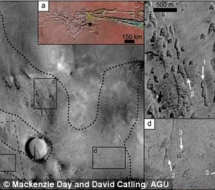 The team found more than 480 potential ghost dunes at Noctis Labyrinthus, and more than 300 in eastern Hellas Planita