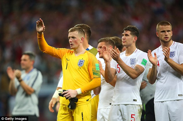 'There was a lump in my throat watching the fans applaud us at the end,' Pickford told ITV