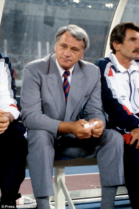A grieving Bobby Robson after his team's defeat on penalties to West Germany in 1990