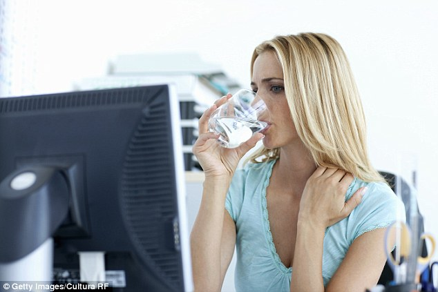 What with our fast-paced lives and busy schedules, it's easy to neglect some aspects of our health, especially something as simple as drinking a good amount of water (stock image)