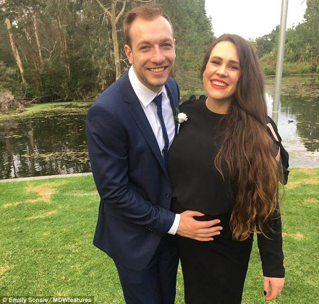 Ms Sonsie (pictured left with her husband Michael pictured right) explained it took the realisation her body needed proper nurturing in order for her to become a mother