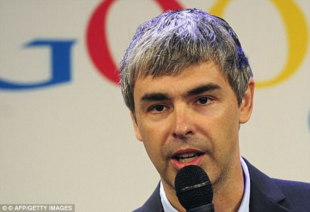 Google staff would go to the infamous hippie festival Burning Man (pictured is Larry Page)