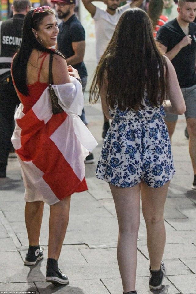 England fans make their way home from Birmingham city centre as Croatia beat England